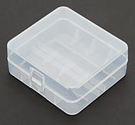 2 pc / lotto di plastica duro Battery Box di stoccaggio per 26.650 batteria
