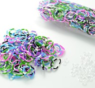 DIY Twistz Silicone Bandz Rubber Bands Bracelets with 600pcs Bands and 24 S-clips Rainbow Color Loom Style