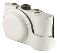 """Ever Ready"" Beschermende Witte PU Leather Camera tas voor Samsung Galaxy EK-GC100, Samsung Galaxy EK-GC110 Digitale Camera"