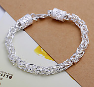 Fashion Cool Men's  New Dragon's Head Silver Plated Brass  Chain & Link Bracelets(Silver)(1Pc)