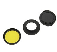 37mm Red Filter + Lens Hood + Lens Cap Kit for GoPro Hero 3 / 3+ - Yellow