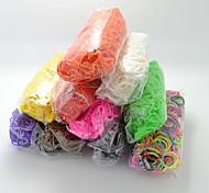 elastici bandz silicone twistz fai da te braccialetti arcobaleno di stile di telaio di colore per i bambini con 600pcs bande e 24 s-clip