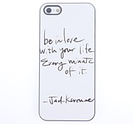 Be in Love With your Life Design Aluminium Hard Case for iPhone 5/5S