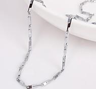 eruner®unisex plata 2 mm collar de cadena no.77