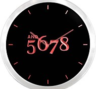 nc0710 And 5678 Dancer Dance Time Neon Sign LED Wall Clock