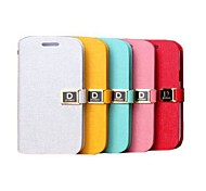 Bone Grain Leather Full Body Case for Samsung Galaxy Trend I699