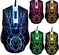 Shift USB2.0 6D Gaming alambre el ratón 2000DPI color LED en cada 3 ª en 7 colores