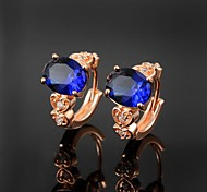 Fashion Brass Rose Gold Plated with Cubic Zirconia Women's Earrings(More Colors)