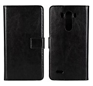 PU Leather Full Body Case with Card Slot and Strap for LG G3 (Assorted Colors)
