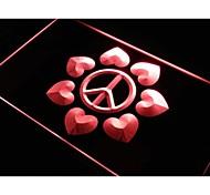 Peace & Love Display Home Decor LED Light Sign