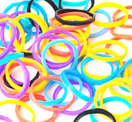 Rainbow Colorful Loom Style Elastic Multicolor Black Rubber Band(600 Pcs Bands+24 Pcs C Or S Clips)