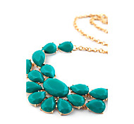 European Style Candy Color Statement Necklace
