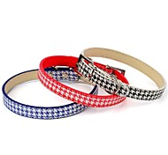 Adjustable Cute PU Leather Collars for Pets Dogs (Blue,Red,Black,Size XS/S/M)