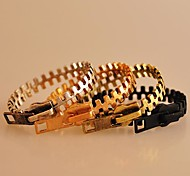 Miss ROSE®Punk Alloy Zipper Pattern Bracelet(Assorted Colors)\ \ \ \