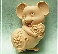 Мышь формы Выпекать Плесень, W9.5cm х L7.1cm х H3.7cm
