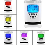 Timess™  Pen Container  LED Natural Sound Calendar Hygrometer SNOOZE Alarm Clock