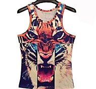 Men's Sleeveless Vest , Others Casual/Sport Print