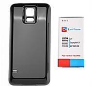 7800mAh épaissi Batterie téléphone portable NFC + Noir Brillant couverture arrière pour Samsung I9600 S5 (EB-BG900BBC)
