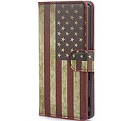 The Stars and the Stripes PatternCase with Card Slot and Built-in Matte PC Back Cover for Sony M2