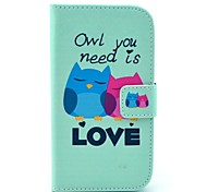 Owl You Need is Love Cartoon Pattern Soft Case for Samsung Galaxy Core I8262