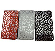 Beautiful Leopard Leather Pattern PU Leather Full Body Case with Stand for iPhone 4/4S(Assorted Colors)