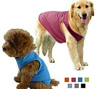 Perros Camiseta Naranja / Verde / Azul / Morado / Negro / Gris / Rosa Ropa para Perro Primavera/Otoño Un Color