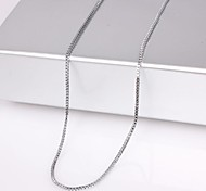 eruner®unisex cadeia tanque 2 milímetros colar de corrente de prata no.29