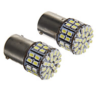 1156 3W 50 LED 50LM 6000K 3020-SMD fredda lampadina LED bianco per l'automobile (12V, 2pcs)