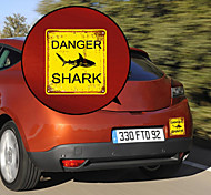 Be Careful of Shark Pattern Decorative Car Sticker