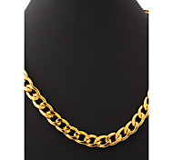 U7® Big Size Men's 18K Chunky Gold Filled Hiphop Link Chains Necklace 11MM 55CM