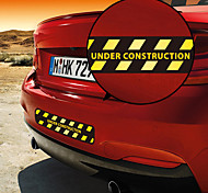 Under Construction Warning Pattern Decorative Car Sticker