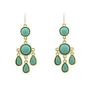 Fashion Resin Stone Set Chandlier Drop Earrings