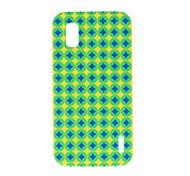 Kinston Blue en Yellow Diamond patroon Plastic Hard Case voor LG Google Nexus 4