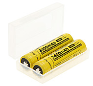 NITECORE NL189 3400mAh 18650 Batetry (2 pcs) + 2 Pcs/Lot Hard Plastic Battery Storage Box for 18650 /16340 Battery