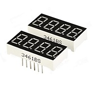 "DIY 0.36 ""4-Digit digitale a 7 segmenti Display - Nero (2 PCS)"