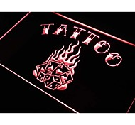 Tattoo 4 A's Poker Dice Neon Light Sign