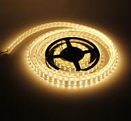 Impermeabilice los 5M 144W 600x5050SMD luz blanca cálida Lámpara LED Strip (12V DC)