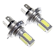 LED H4 7.5W lumière blanche pour lampe de voiture (12V, 2pcs)