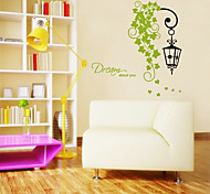 Green Leaves and Lamp Pattern Wall Sticker(1PCS)