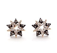 Europe America Night Party Multilayer Exaggerated Star Women Stud Earrings