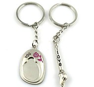 (A pair)China Pen and Ink Stones Interesting High-grade Stainless Steel Keychain Symbol of Love