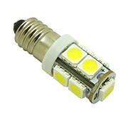Bulbo E10 2W 9X5050 SMD 6000K luzes brancas LED Luz para DIY (DC 12V, 2 pacotes)