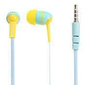 Love-V34 3,5 milímetros In-Ear Headphones baixo estéreo com microfone para Samsung e iPhone e Sony e HTC Telefones & Celulares Tabs