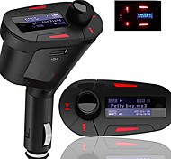 Kit Transmisor FM Reproductor MP3 de Coche con Display LCD Mando a Distancia y USB SD MMC