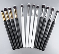 New Pro MakeUp Cosmetic Set Eyeshadow Foundation wood Brush blusher Tools 4 PCs SV000966
