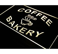 i497 Bakery Coffee Shop Cup Display Neon Light Sign