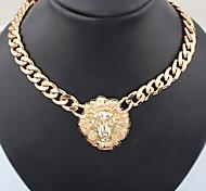 European Style Lion Head Choker Necklace