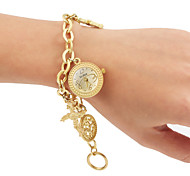 Women's Gold Color Alloy Band Analog Bracelet Watch Cool Watches Unique Watches
