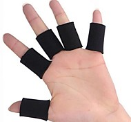 0605 Multisport Finger Sleeves for Gym Fitness / Basketball / Volleyball - Black (10-Piece-Pack)