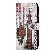 Rose Clock Leather Full Body Case with Card Slot for HTC One 2 M8